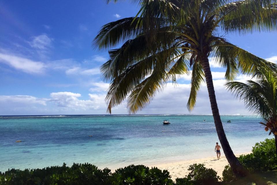 Erholung unter Palmen von Mauritius