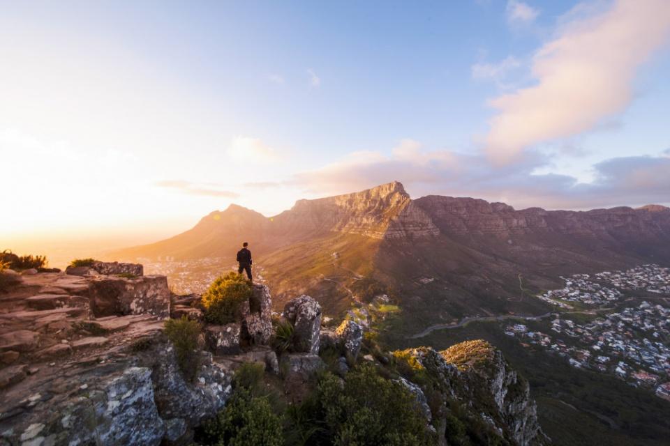 Blick vom Lion's Head auf den Tafelberg
