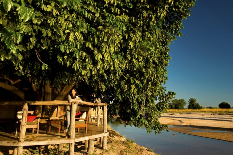 Terrassenblick auf den Luwi River