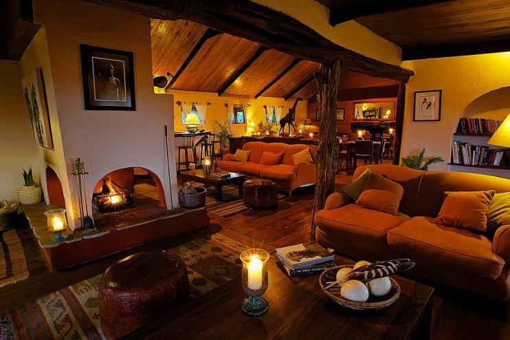 Lounge im Lewa Safari Camp