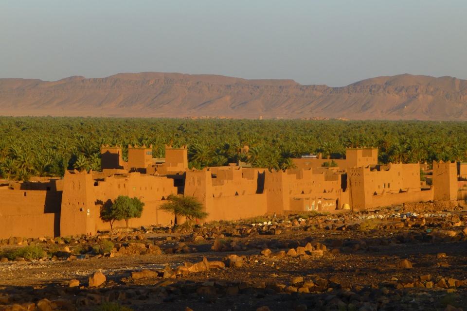 Marokko-Zagora-Sonnenunterngang-AME Sunset near Zagora