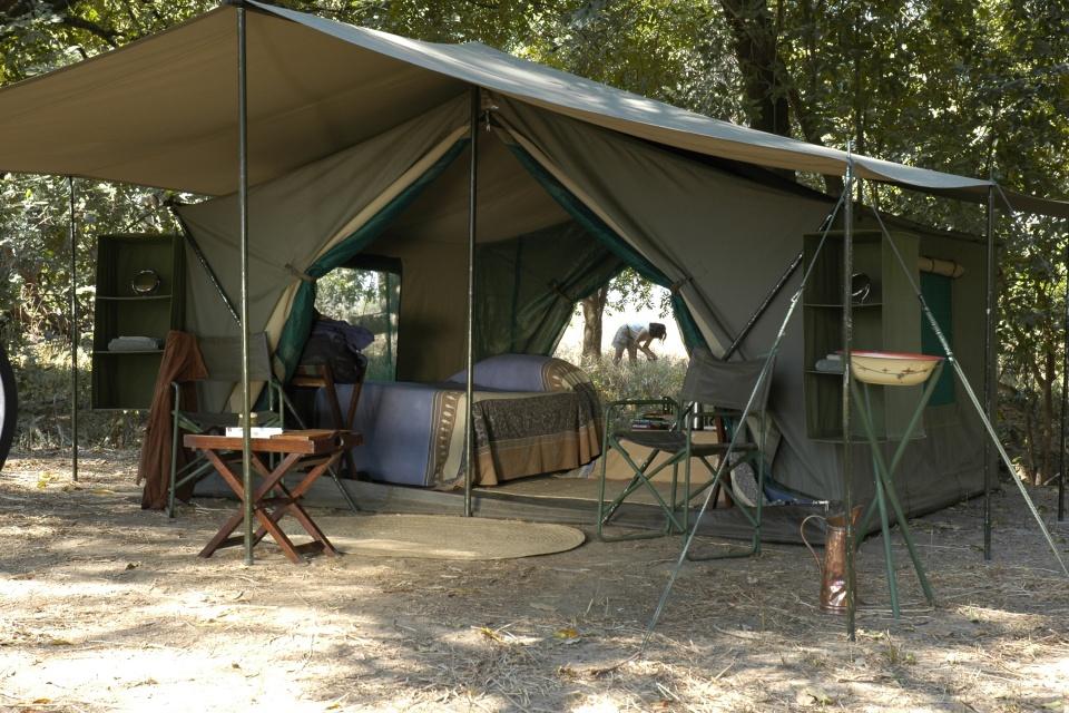 Einrichtung des Zeltes